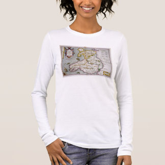 Map of Wales, published c.1630 (hand-coloured engr Long Sleeve T-Shirt