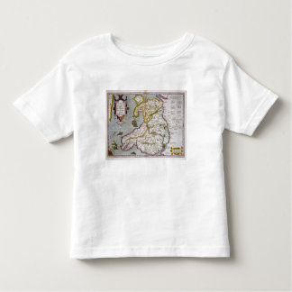 Map of Wales, published c.1630 (hand-coloured engr Toddler T-Shirt