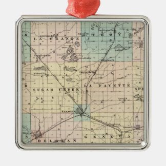 Map of Walworth County, State of Wisconsin Christmas Ornament