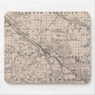 Map of Wapello County, State of Iowa Mouse Mat