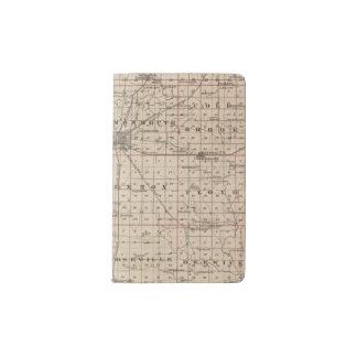 Map of Warren County, Abingdon Pocket Moleskine Notebook