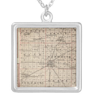 Map of Warren County, Abingdon Silver Plated Necklace