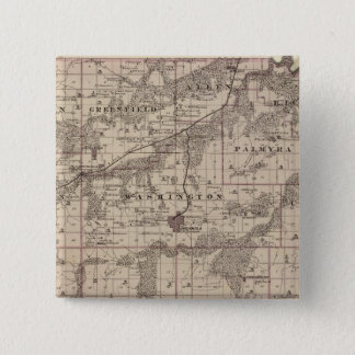 Map of Warren County, State of Iowa 15 Cm Square Badge