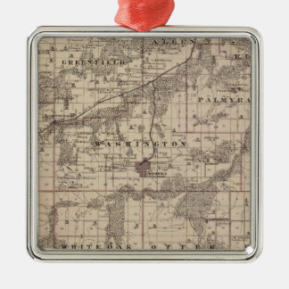 Map of Warren County, State of Iowa Christmas Ornament