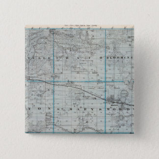 Map of Waseca County, Minnesota 15 Cm Square Badge