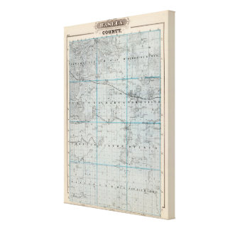 Map of Waseca County, Minnesota Canvas Print