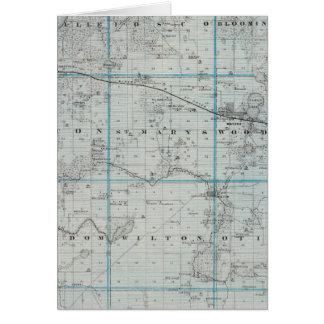 Map of Waseca County, Minnesota Card