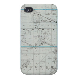 Map of Waseca County, Minnesota Case For The iPhone 4