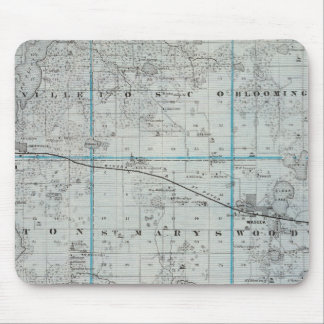 Map of Waseca County, Minnesota Mouse Mat