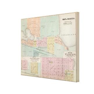 Map of Waseca, Minnesota Canvas Print