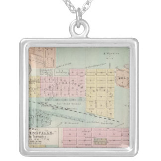 Map of Waseca, Minnesota Silver Plated Necklace