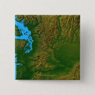Map of Washington 15 Cm Square Badge