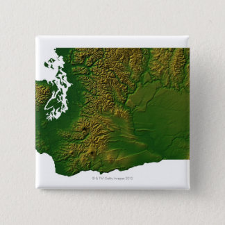 Map of Washington 3 15 Cm Square Badge