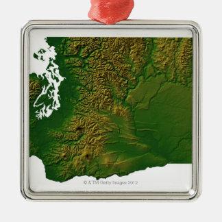 Map of Washington 3 Christmas Ornament