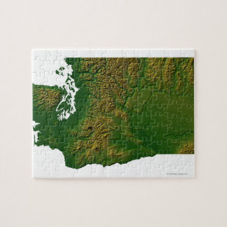 Map of Washington 3 Jigsaw Puzzle