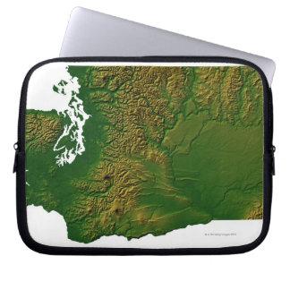Map of Washington 3 Laptop Sleeve