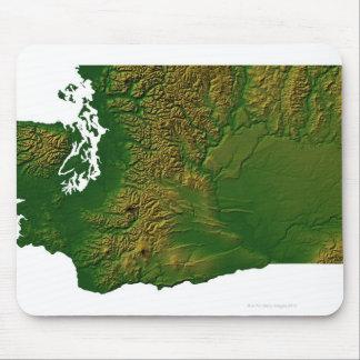 Map of Washington 3 Mouse Mat