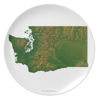 Map of Washington 3 Plate