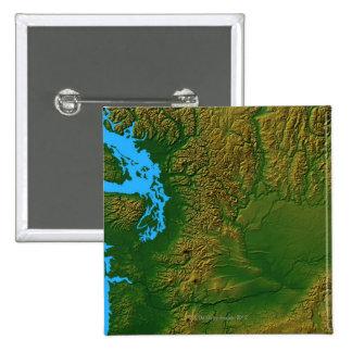 Map of Washington Pin