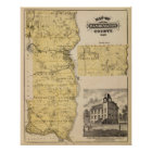 Map of Washington County, Minnesota Poster