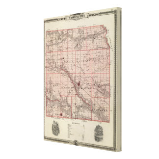 Map of Washington County, State of Iowa Canvas Print