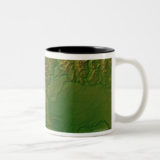 Map of Washington Two-Tone Coffee Mug