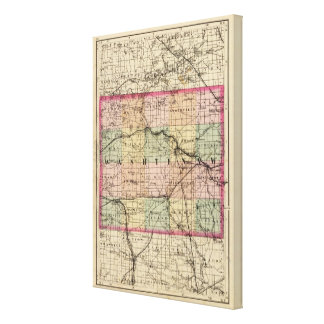 Map of Washtenaw County, Michigan Canvas Print