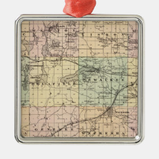 Map of Waukesha County, State of Wisconsin Christmas Ornament