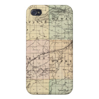 Map of Waukesha County, State of Wisconsin Covers For iPhone 4