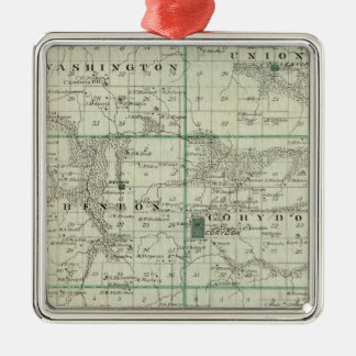 Map of Wayne County, State of Iowa Christmas Ornament