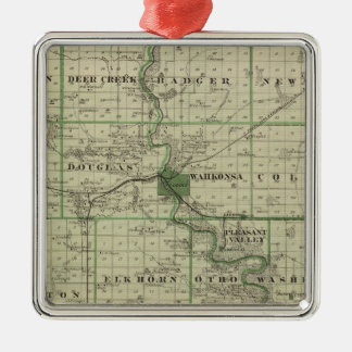 Map of Webster County, State of Iowa Christmas Ornament