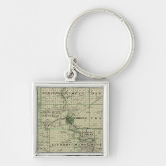 Map of Webster County, State of Iowa Key Ring