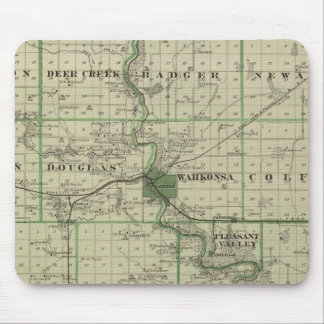 Map of Webster County, State of Iowa Mouse Mat