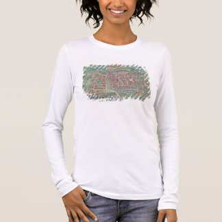 Map of Weimar, from 'Civitates Orbis Terrarum' by Long Sleeve T-Shirt