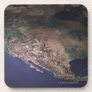 Map of West Coast USA Coaster