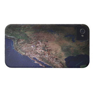 Map of West Coast USA iPhone 4 Case-Mate Case