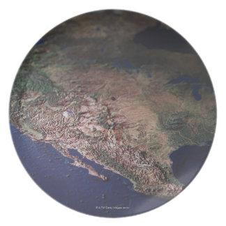 Map of West Coast USA Plate