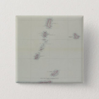 Map of West Indies 15 Cm Square Badge