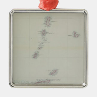 Map of West Indies Christmas Ornament
