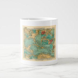 Map of West Indies from 1906 in German Jumbo Mug
