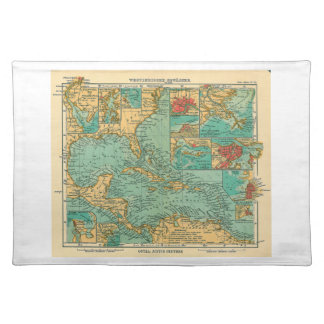 Map of West Indies from 1906 in German Place Mat