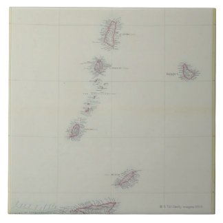 Map of West Indies Tile