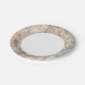 Map of Westchester County, New York Paper Plate