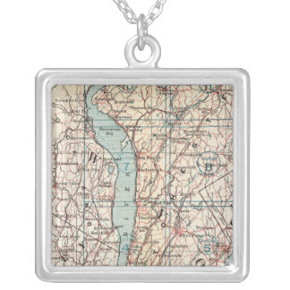 Map of Westchester County, New York Silver Plated Necklace