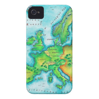 Map of Western Europe iPhone 4 Case-Mate Cases