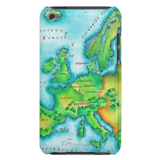 Map of Western Europe iPod Touch Cover