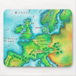 Map of Western Europe Mouse Mat