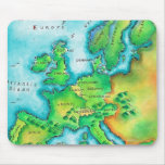 Map of Western Europe Mouse Pad