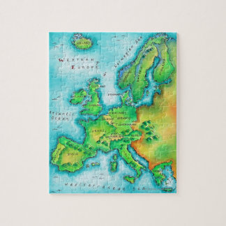Map of Western Europe Puzzles