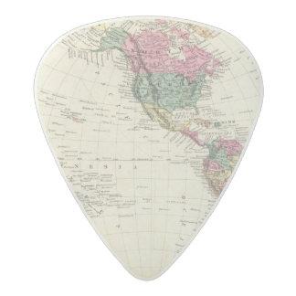 Map of Western Hemisphere Acetal Guitar Pick